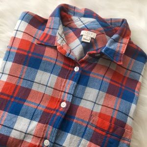 J Crew Red and Blue Flannel